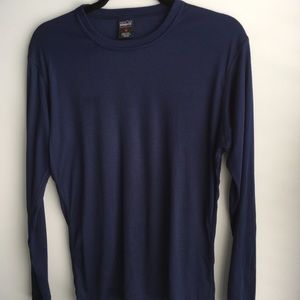 Patagonia navy long sleeve men's polyester shirt